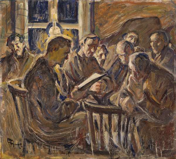 The Meeting, 1929 (oil on paper)