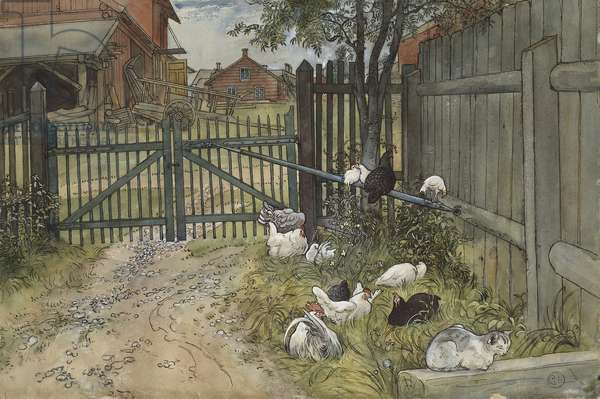 The Gate, from 'A Home' series, c.1895 (w/c on paper)