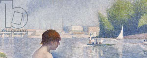 Bathers at Asnières, 1884 (oil on canvas) (detail of 2136)