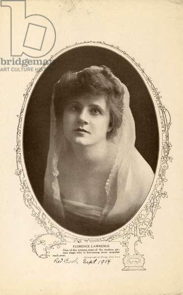Florence Lawrence, 1914 (b/w photo)
