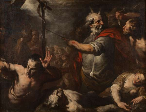 Moses and the Brazen Serpent (oil on canvas)