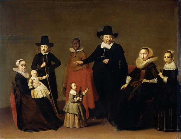 Family group with a black servant, c. 1631-33 (oil on panel)