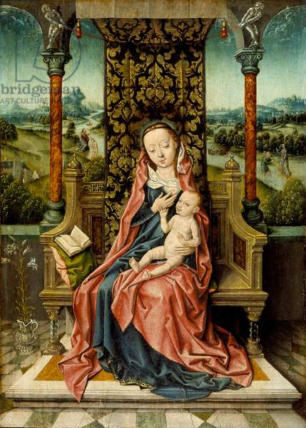 Madonna and Child Enthroned, c.1510 (oil on panel)