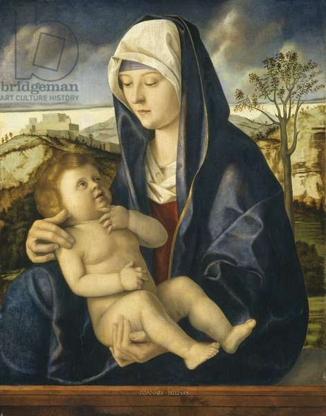 Madonna and Child in a Landscape, c.1490-1500 (oil on panel)
