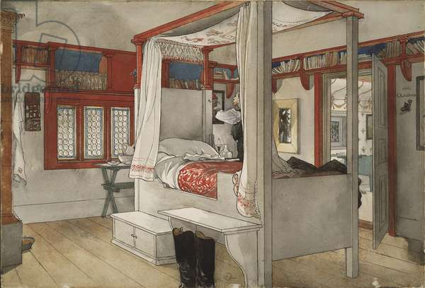 Daddy's Room, from 'A Home' series, c.1895 (w/c on paper)