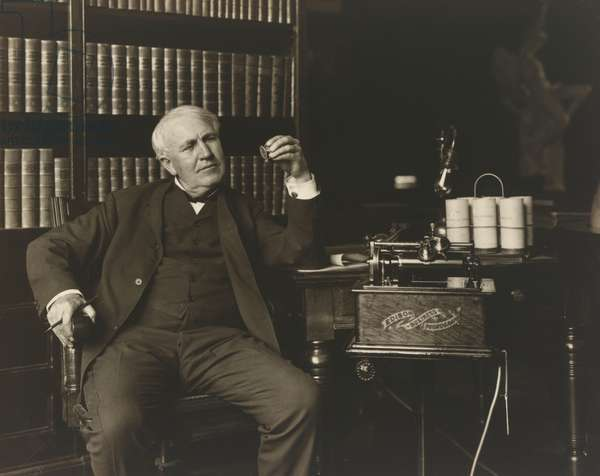 Thomas Alva Edison (1847-1931), 1907 (gelatin silver print)