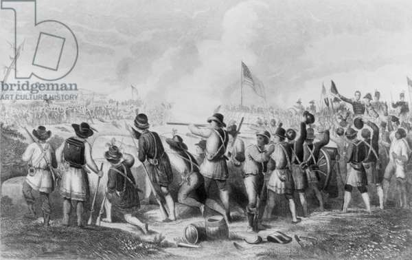 The Battle of New Orleans on January 8th 1813 (engraving)