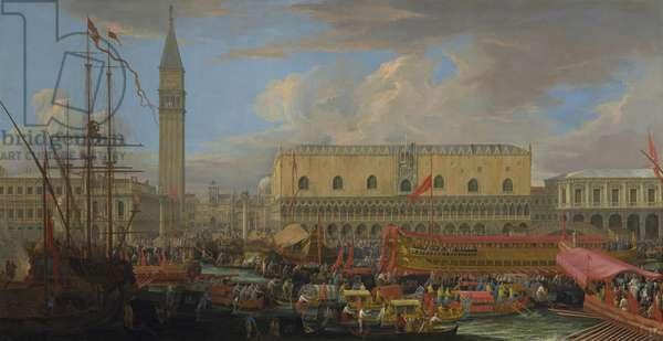 The Bucintoro Departing from the Bacino di San Marco, 1710 (oil on canvas)