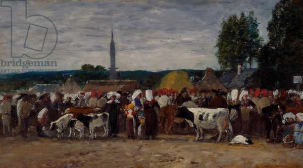 Fair in Brittany, 1874 (oil on panel)