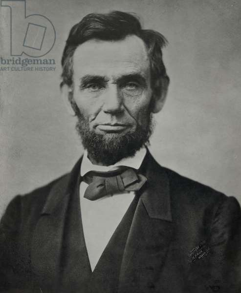 Abraham Lincoln, 16th President of the United States, 1863 (b/w photo)