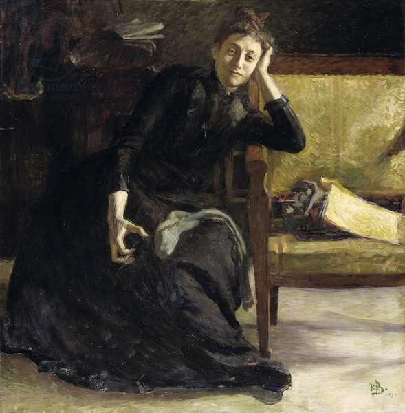 Portrait of the Swedish painter Eva Bonnier, 1889 (oil on canvas)