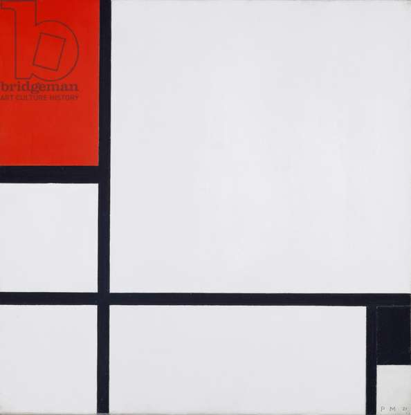 Composition No. I, with Red and Black, 1929 (oil on canvas)