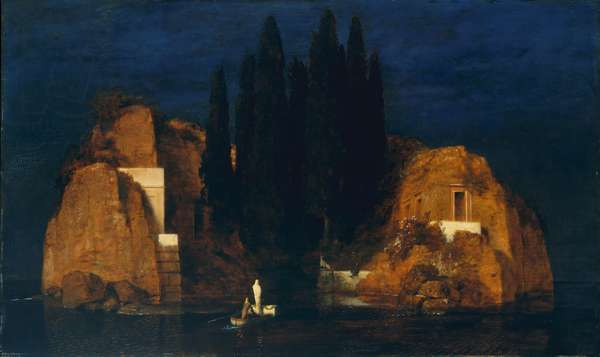 Isle of the Dead, second version, 1880 (oil on wood)