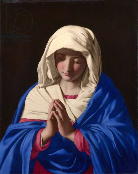 The Virgin in Prayer, 1640-50 (oil on canvas)