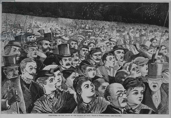 Fire-Works on the Night of the Fourth of July, 1868 (wood engraving)