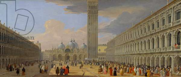 Piazza San Marco, Venice, c.1709 (oil on canvas)