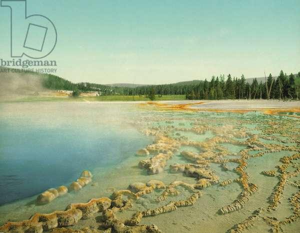 Sapphire Pool, Yellowstone National Park, c.1902 (photochrom)