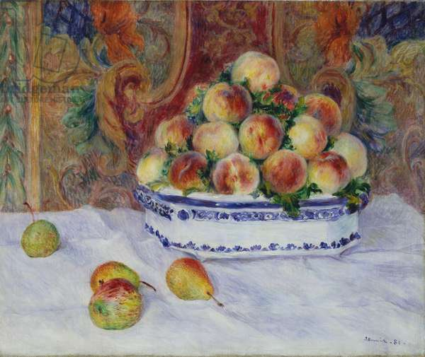 Still Life with Peaches, 1881 (oil on canvas)