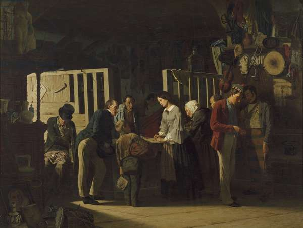 The Pawn Shop II, 1859 (oil on canvas)