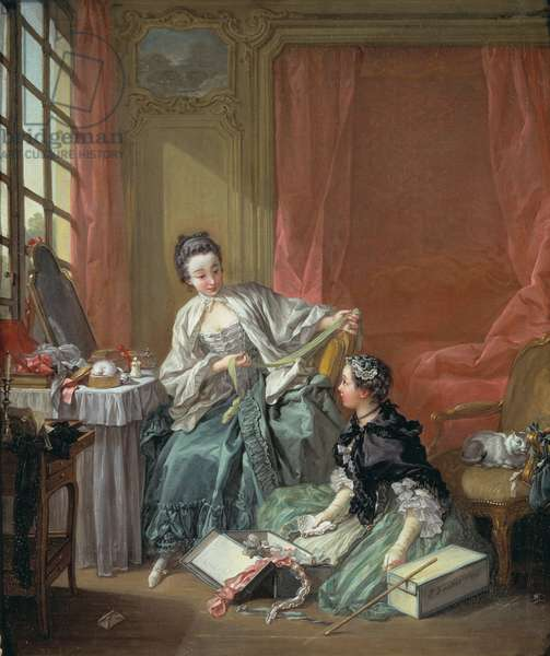 The Milliner, 1746 (oil on canvas)