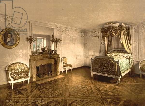 Petit Trianon, Versailles, chamber of Marie Antoinette, c.1890-1900 (photochrom)