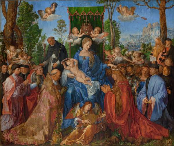 Feast of the Rose Garlands, 1506 (oil on wood)