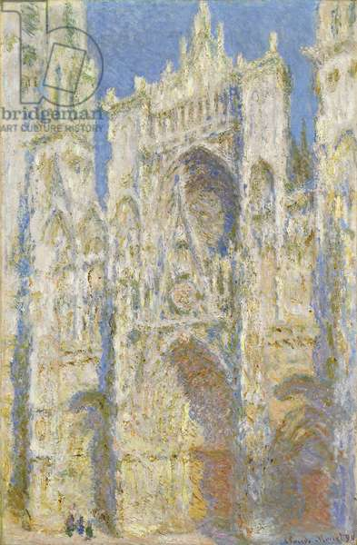 Rouen Cathedral, West Facade, Sunlight, 1894 (oil on canvas)