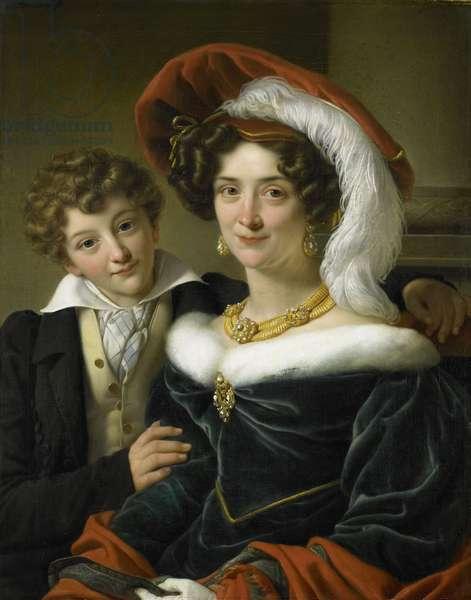 Rudolphina Wilhelmina Elizabeth de Sturler, wife of Count Johannes van den Bosch, with their Son Richard, 1829 (oil on canvas)