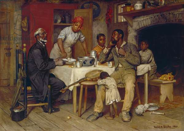 A Pastoral Visit, 1881 (oil on canvas)
