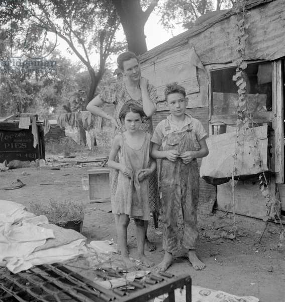 People living in miserable poverty, Oklahoma, 1936 (b/w photo)