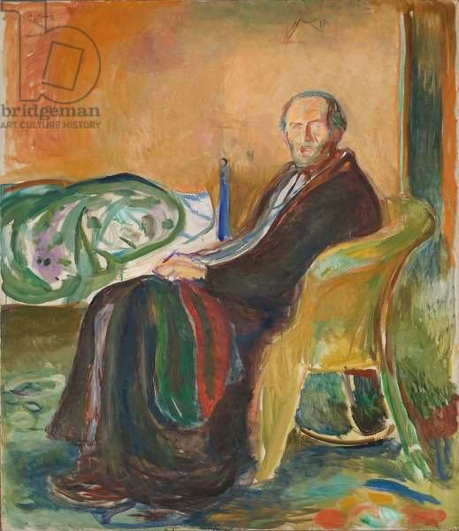 Self-Portrait with the Spanish Flu, 1919 (oil on canvas)
