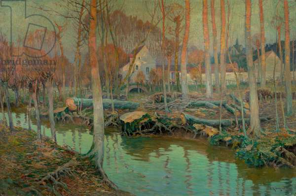 The Old Mill in Giverny, 1899 (oil on canvas)