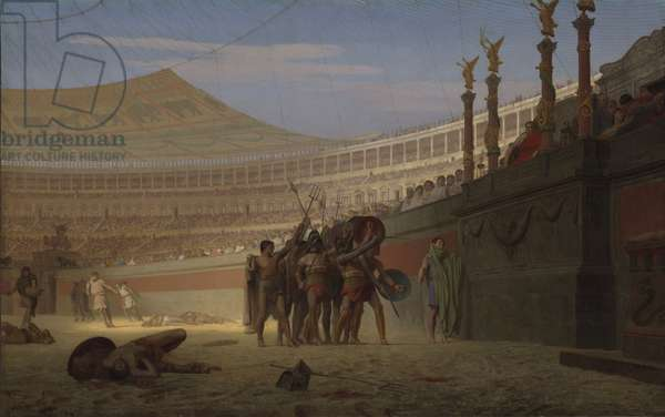 Ave Caesar! Morituri te salutant (Hail Caesar! We Who Are about to Die Salute You), 1859 (oil on canvas)