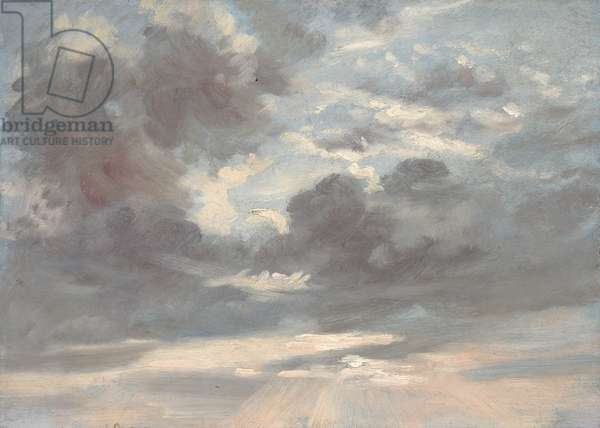 Cloud Study: Stormy Sunset, 1821-2 (oil on paper on canvas)