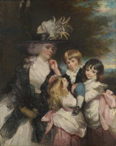 Lady Charlotte Smith and Her Children, 1787 (oil on canvas)