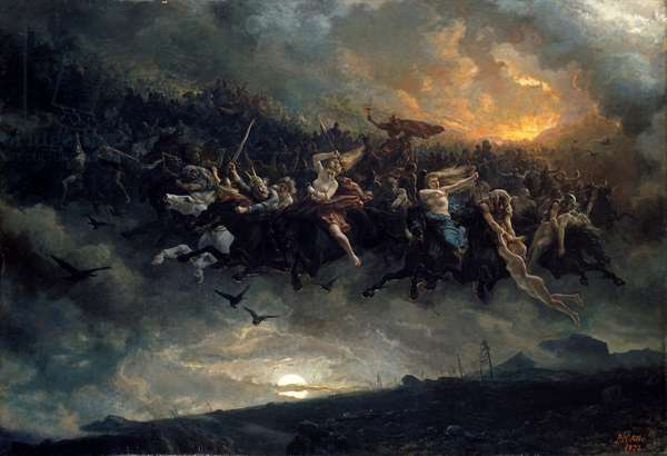 The Wild Hunt of Odin, 1872 (oil on canvas)