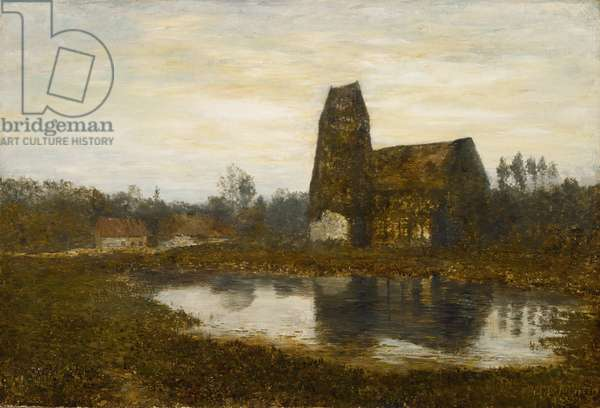Criqueboeuf Church, Normandy, 1893 (oil on canvas)