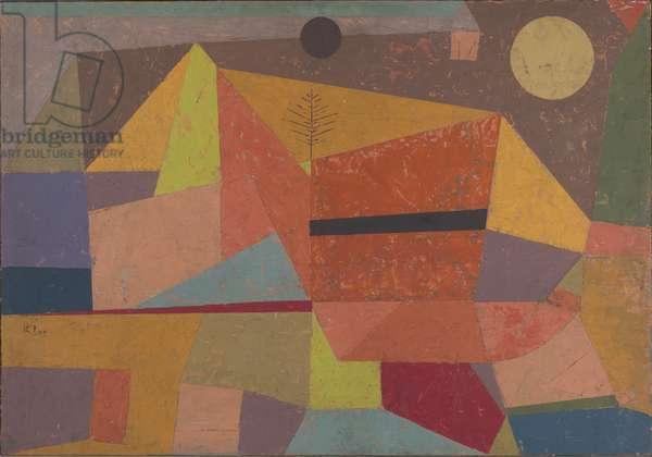 Heitere Gebirgslandschaft (Joyful Mountain Landscape), 1929 (oil on board)