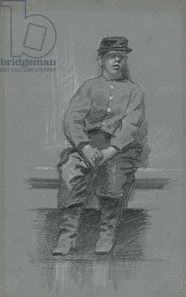 The Cadet, c.1895 (graphite on gray tablet)
