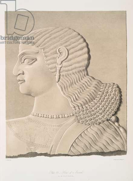 Head of a eunuch, 1849 (lithograph)