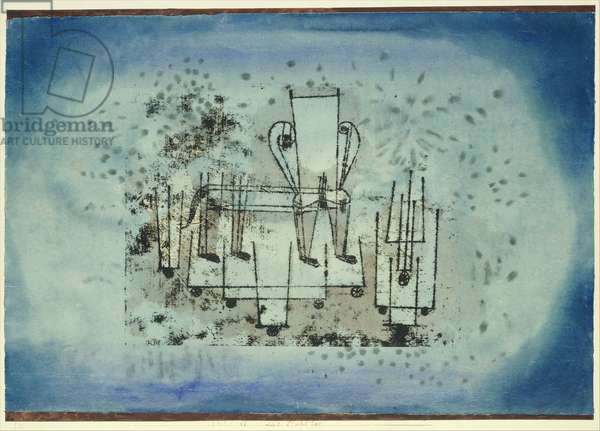 The Chair-Animal, 1922 (w/c and ink on paper, bordered with gouache, mounted on cardboard)