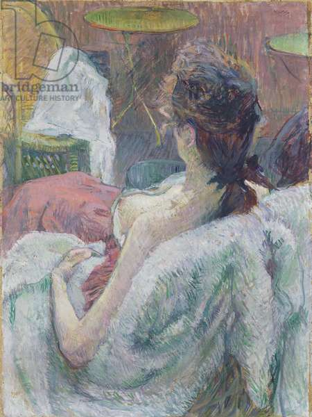 The Model Resting, 1889 (tempera or casein with oil on cardboard)