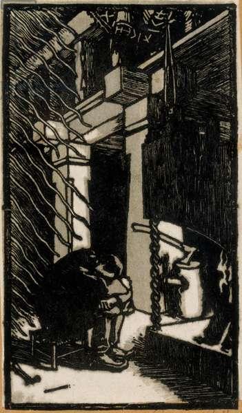 Inspiration (Crépuscule d'atelier), 1896 (woodcut)