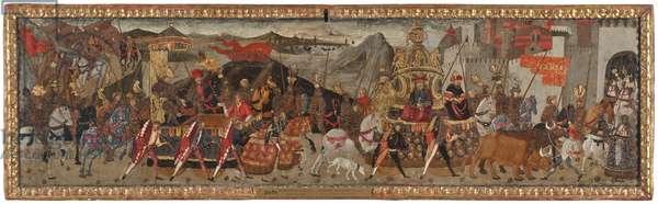The Triumph of Caesar, c.1480-1500 (oil on panel)