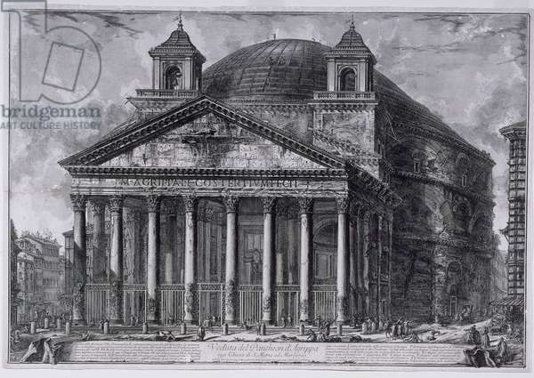 View of the Pantheon of Agrippa, c.1761 (etchings)