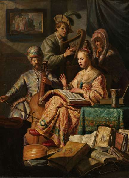 Musical Company, 1626 (oil on panel)