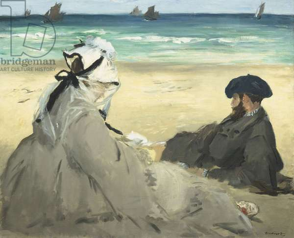 On the Beach, 1873 (oil on canvas)