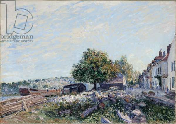 Saint Mammès-Morning, 1884 (oil on canvas)