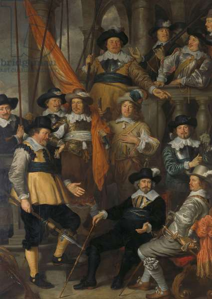 Amsterdam civic guard of District XVIII under Captain Albert Bas and Lieutenant Lucas Conijn, 1645 (oil on canvas)