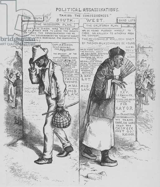 Political assassinations, taking the consequences, from 'Harper's Weekly', 1882 (litho)